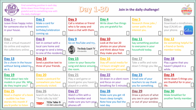 60 Day Wellbeing Challenge 1