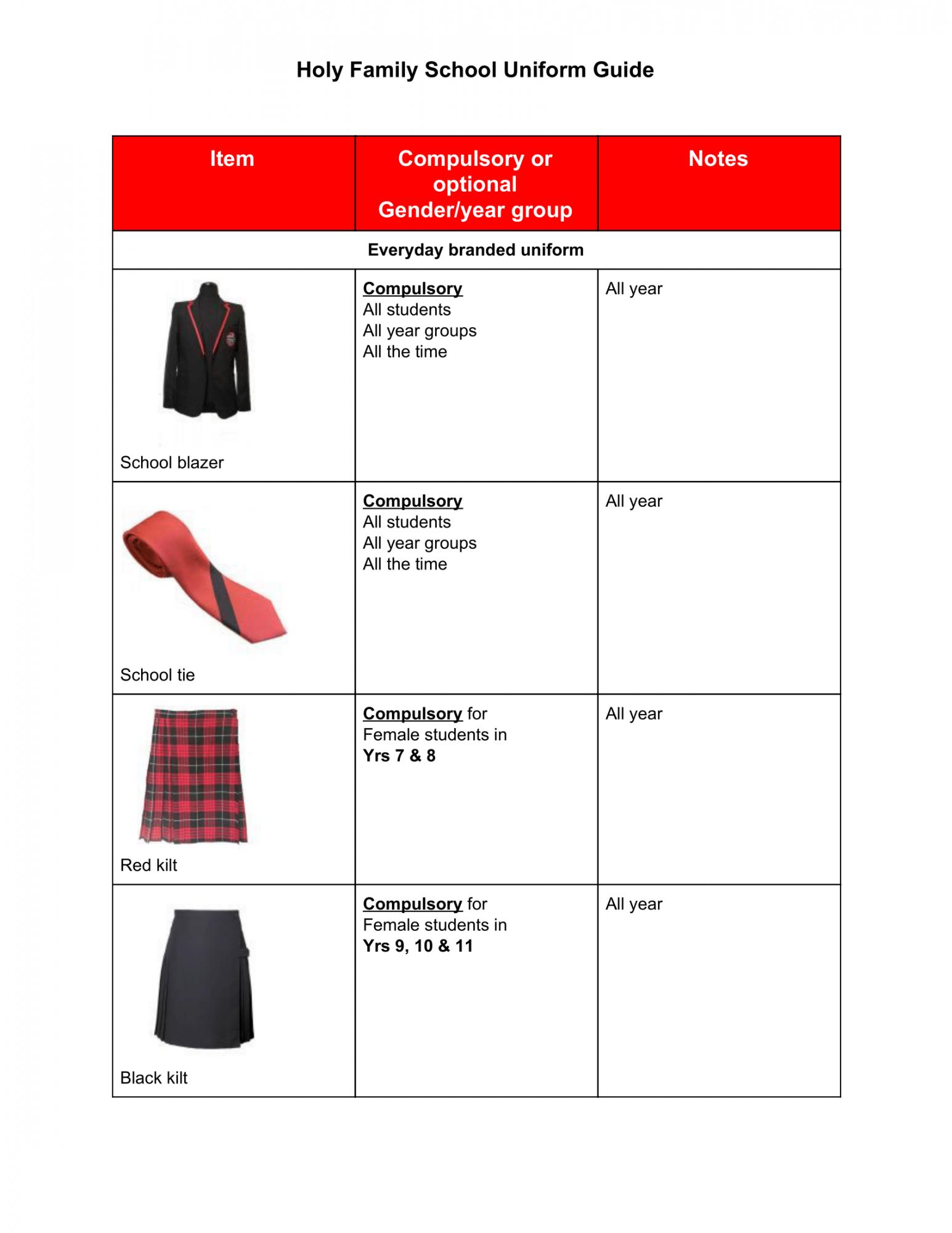 School Uniform Sept 2020 1